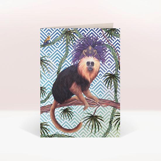 TAMARIN MONKEY - GREETINGS CARD