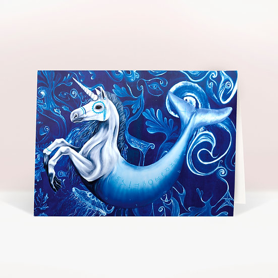 HIPPOCAMPUS - GREETINGS CARD