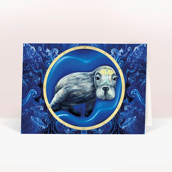 SEA LION- GREETINGS CARD