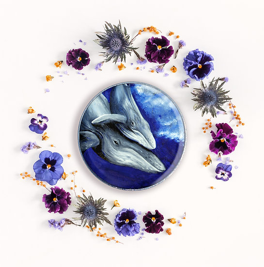 HUMPBACK WHALE - ART BADGE