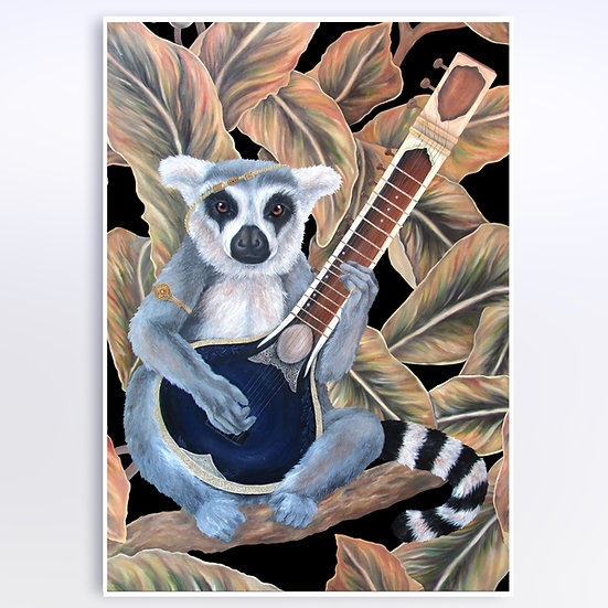 THE LEMUR'S SITAR - ART PRINT