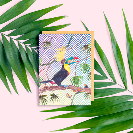 Toucan Greetings Card mock up pink.jpg