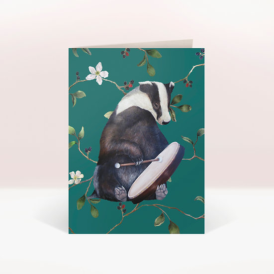 BODRUM BADGER - GREETINGS CARD