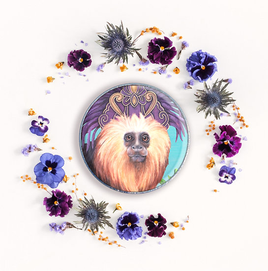 TAMARIN MONKEY - ART BADGE