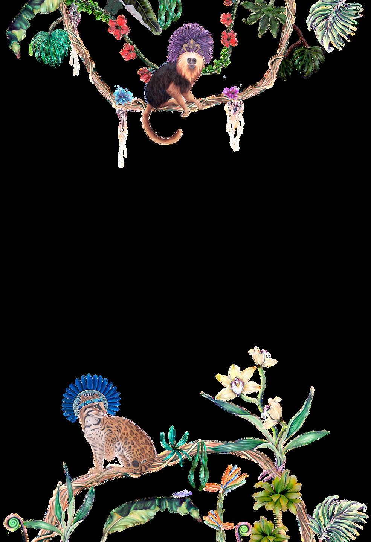 saturnalia background monkey and ocelot