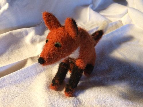 Hand Needle Felted Fox
