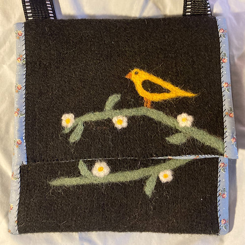 Goldfinch Felted Side Bag