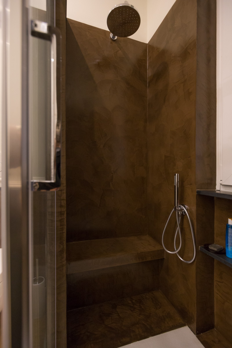 il bagno, la doccia