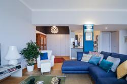 Un appartamento in BLU il soggiorno