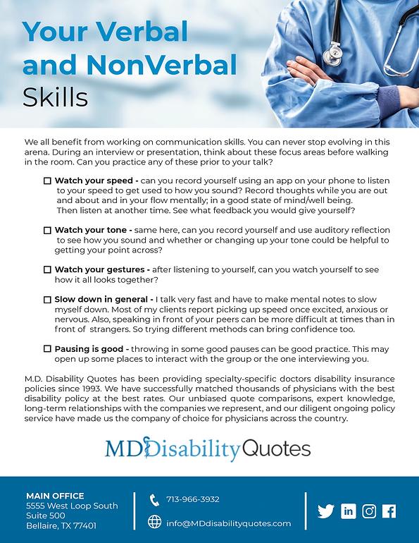 Verbal and NonVerbal Skills