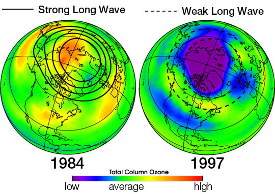 The Ozone Hole from 1984 to 1997