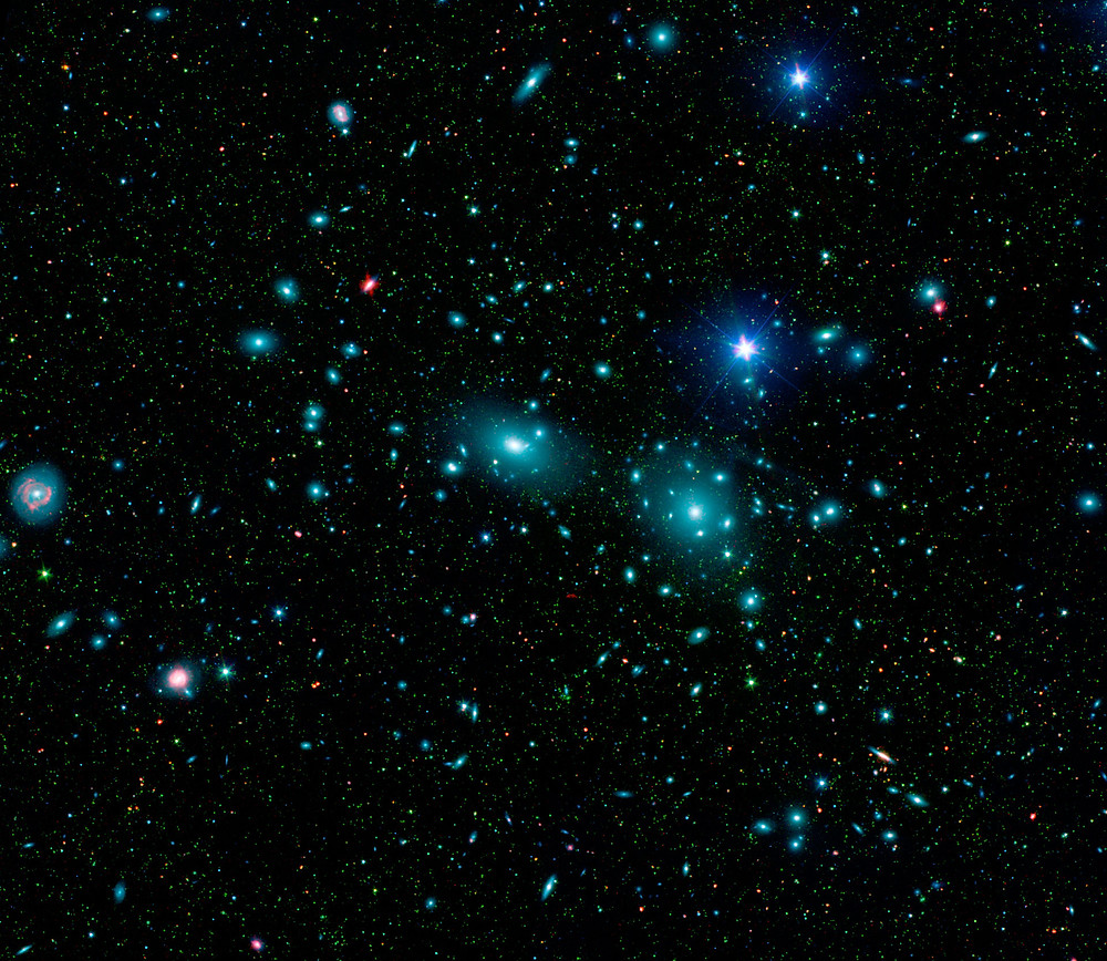Infrared/Visible Image of Coma Cluster