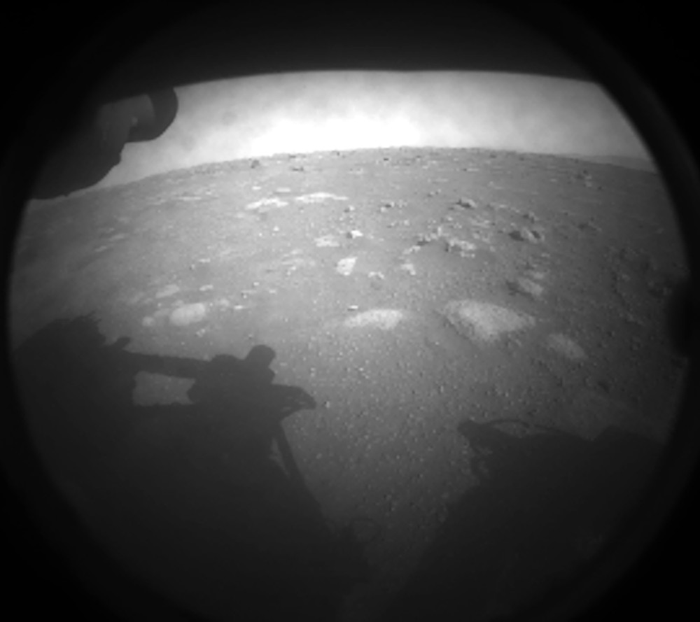 Perseverance Rover's First Image