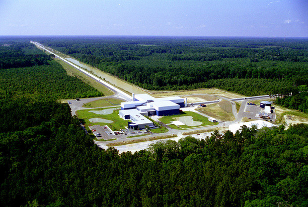 LIGO Livingston, at the corner of the L