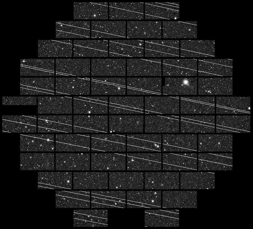 Starlink Satellites across Blanco 4-metre Telescope.