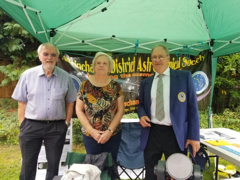 Photo of the Chair with Audrey Binch, Alma Singers Chair and Andrew Jeffries, Sale Male Voice secretary; courtesy Christine Lavender