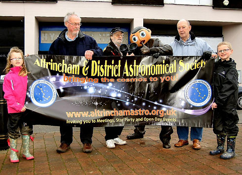Open day 2014: Frank Sidebottom statue and ADAS banner