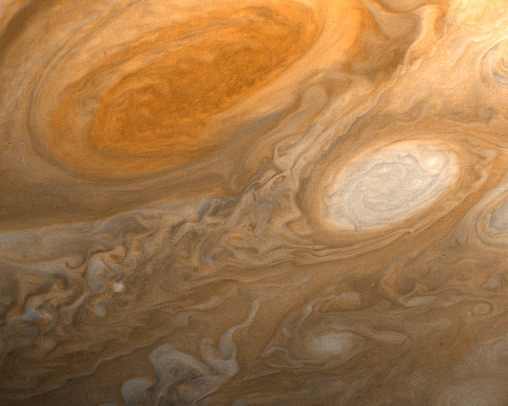 The Great Red Spot by Voyager 1