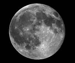 Full Moon in greyscale