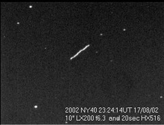 Asteroid 2002NY40
