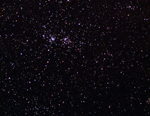 Double Cluster and Open Cluster