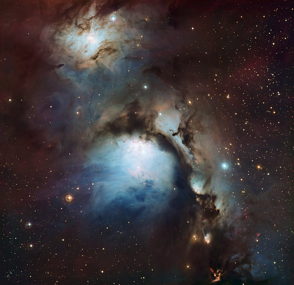 Reflection nebula Messier 78 in Orion