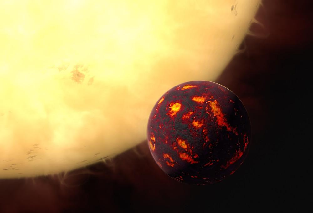 Artist's Impression of 55 Cancri e: a Super-Earth