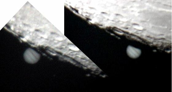 © Mark C and Mike Jupiter Occultation of the Moon  26/1/2002