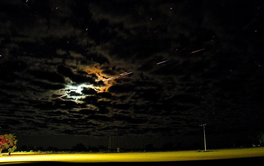 Re-entry of Hayabusa over Woomera Test Range
