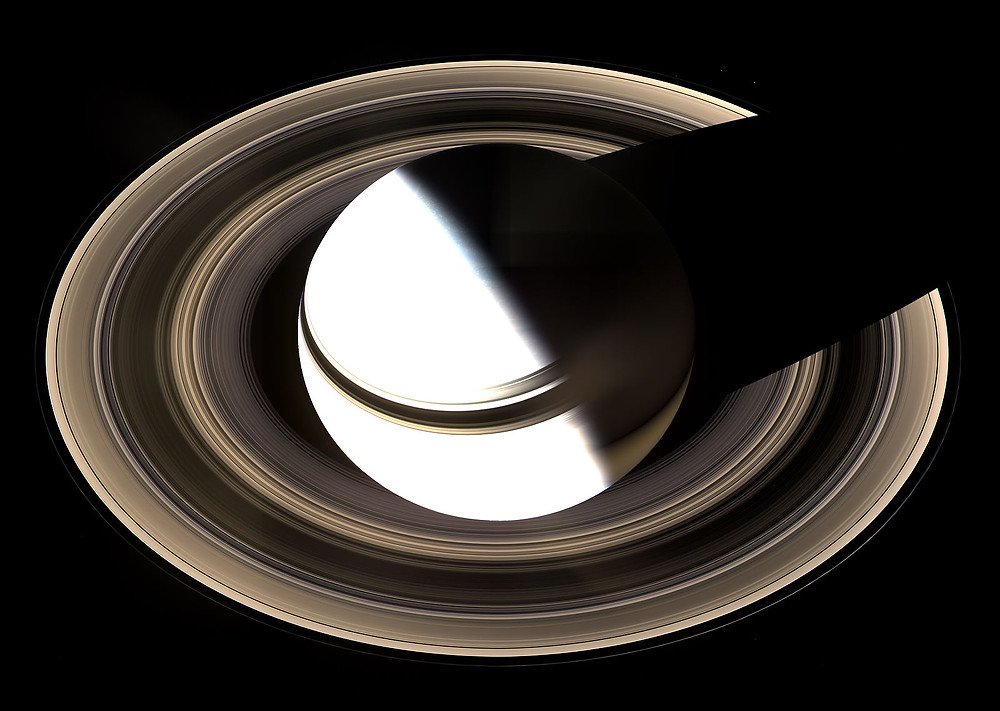 Saturn as viewed by Cassini Orbiter