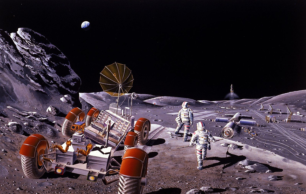 Artist Impression of Moon Colony from 1986