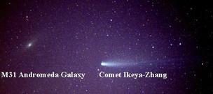 M31, Comet Ikeya-Zhang