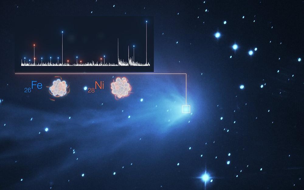 Heavy metal detection in the atmosphere of comet C/2016 R2