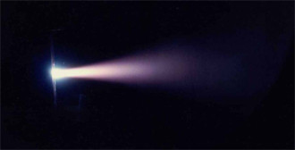 Plasma Thruster During Test Firing