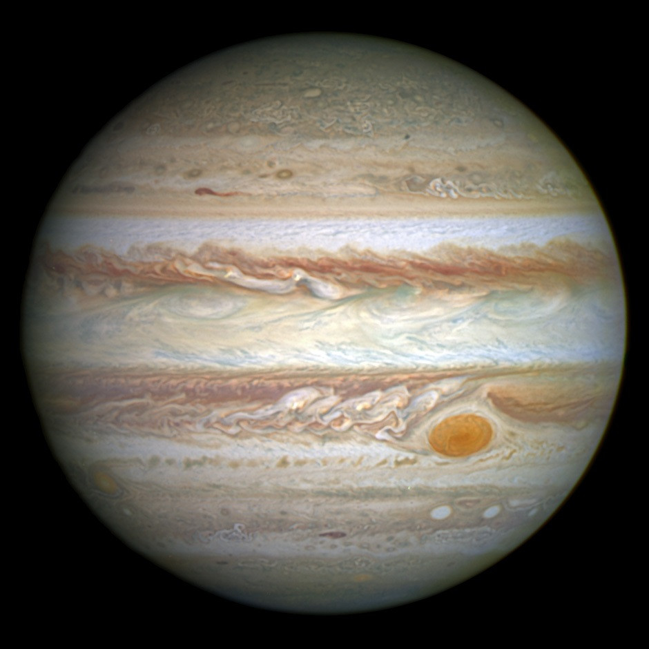 Jupiter from Hubble's Wide Field Camera 3