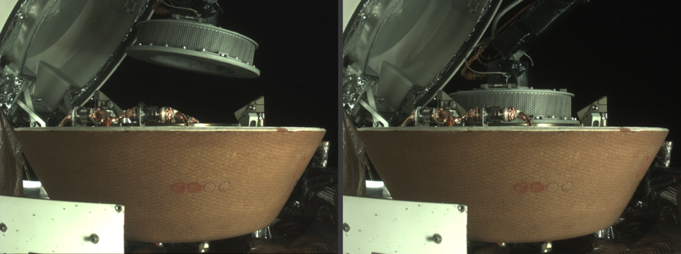 OSIRIS-REx's Sample Return Capsule (SRC) before & after collection