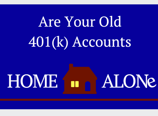 Are Your Old 401(k) Accounts Home Alone?