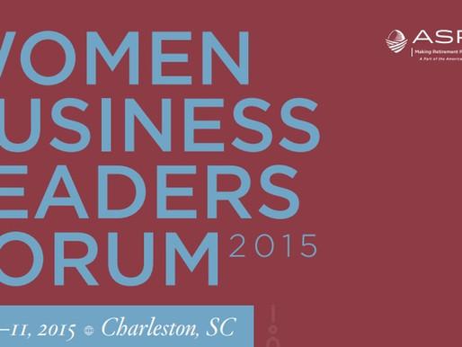 2015 Women's Business Leadership Forum Summary