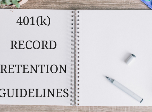 401(k) Record Retention Guidelines