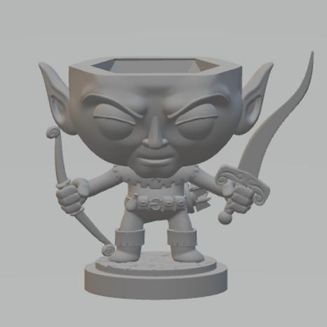 Elf Ranger Dicehead