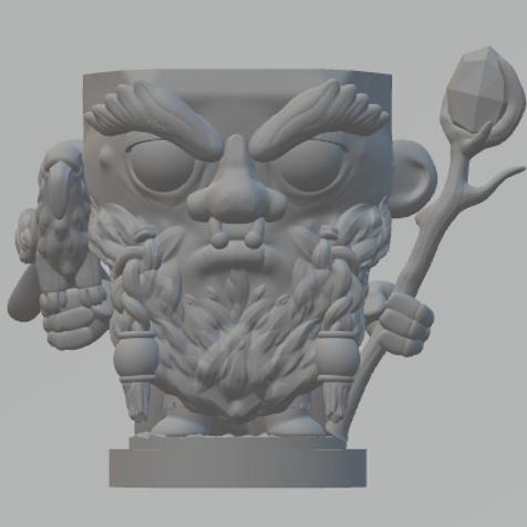Dwarf Druid Dicehead