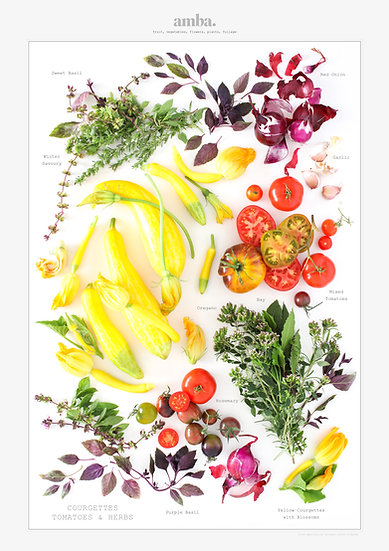 TOMATOES AND COURGETTES