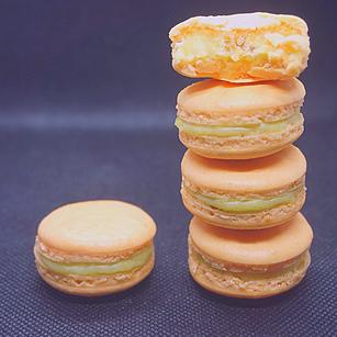 Macarons Pistache/Abricot