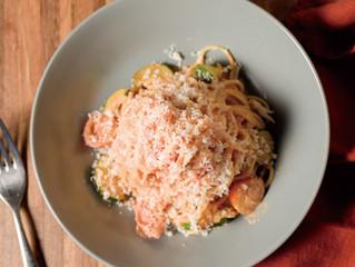 期間限定!ズワイ蟹のトマトクリームパスタ