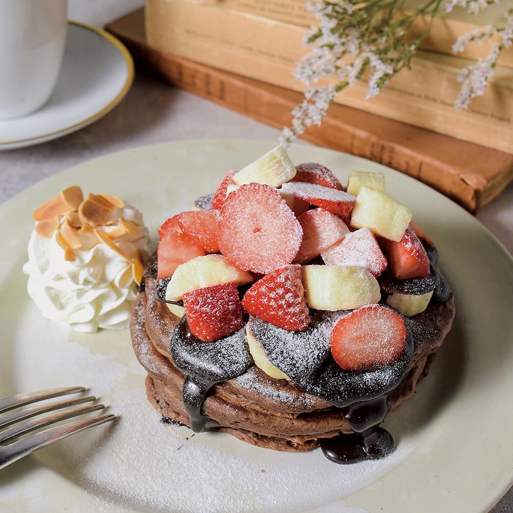 ストロベリーバナナチョコパンケーキ