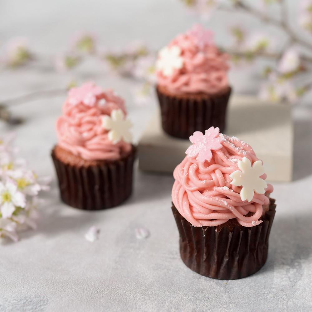 お花見スイーツ!桜カップケーキ