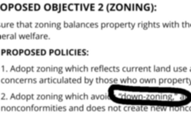 down zoning is anti-growth