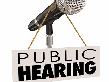 Public Hearing - Dec. 11th, at 6 pm.