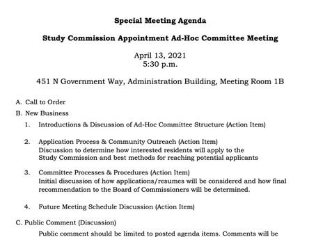 County Manager Study Commission