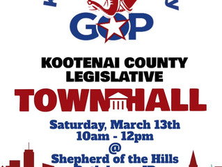 March 13th - Legislator Town Hall